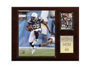 C & I Collectables 1215GATES NFL Antonio Gates San Diego Chargers Player Plaque 9SIV06W2J54526