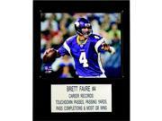 C & I Collectables 1215FAVRE NFL Brett Favre Minnesota Vikings Player Plaque 9SIA00Y0Z81132