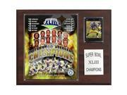 C & I Collectables 1215SB43 NFL Steelers Super Bowl XLIII Champions Plaque 9SIA00Y0Z81953