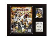 C & I Collectables 1215SB43GD NFL Steelers Super Bowl XLIII Limited Edition Champions Plaque 9SIV06W2J53831