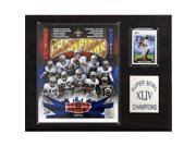 C & I Collectables 1215SB44 NFL Saints Super Bowl XLIV Champions Plaque 9SIA00Y0Z82007