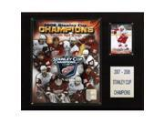 C & I Collectables 1215SC08 NHL Red Wings 2007-08 Stanley Cup Champions Plaque 9SIA00Y0Z81988
