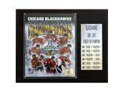 C & I Collectables 1215SC10 NHL Blackhawks 2009-010 Stanley Cup Champions Plaque 9SIA00Y0Z82105