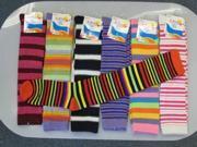 Bulk Buys Knee High Computer Striped Socks - Case of 120