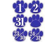 Teacher Created Resources 5233 Blue Paw Prints Calendar Days