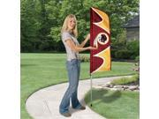 Party Animal Redskins Swooper Flags United States Washington 42 x 13 Durable Weather Resistant UV Resistant Lightweight Dye Sublimated Polyester