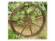 Shineco 4952BT Wooden Wagon Wheel Trellis Burnt Brown
