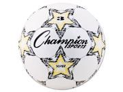 Champion Sports VIPER3 VIPER Soccer Ball Size 3 White