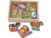 Melissa & Doug 475 Magnetic Wooden Animals 9SIV06W6B71054
