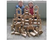 Beka 06090 Hard Maple Unit Blocks Special Shapes Collection- 90 piece set