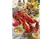 Lobster Gram MSGR4Q MAINE SHORE CLAMBAKE GRAM DINNER FOR FOUR WITH 1.25 LB LOBSTERS