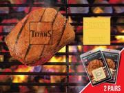 Fanmats 13180 NFL - Tennessee Titans Fanbrand 2 Pack 2 in. x 2 in.