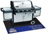 Fanmats 12152 MLB - Colorado Rockies Grill Mat 26 in. x 42 in.