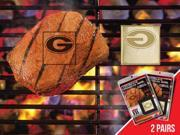 Fanmats 13155 COL - 2 in. x2 in.  - University of Georgia  Fanbrand 2 Pack 9SIV06W2GS2254