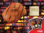 Fanmats 13154 COL - 2 in. x2 in.  - University of Illinois  Fanbrand 2 Pack