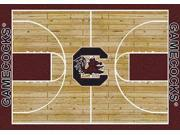 Milliken MI-4000018499 South Carolina Fighting Gamecocks 7 ft. 8 in. x 10 ft. 9 in. Premium Court Rug