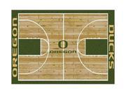 Milliken MI-4000018323 Oregon Ducks 3 ft. 10 in. x 5 ft. 4 in. Premium Court Rug