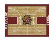 Milliken MI-4000018305 Maryland Terps 3 ft. 10 in. x 5 ft. 4 in. Premium Court Rug