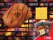 Fanmats 13202 NFL - 2 in. x2 in.  - NFL - New Orleans Saints  Fanbrand 2 Pack 9SIV06W2JA2127