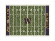 Milliken MI-4000054671 Washington Huskies 3'10'' x 5'4'' Premium Field Rug