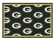 Milliken MI-4000020020 Green Bay Packers 5 ft. 4 in. x 7 ft. 8 in. Premium Pattern Rug