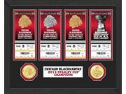 Highland Mint CHBSC4TK Chicago Blackhawks Stanley Cup Ticket and Bronze Coin Collection 9SIA00Y1836341