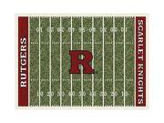 Milliken MI-4000018328 Rutgers Scarlet Knights 3 ft. 10 in. x 5 ft. 4 in. Premium Court Rug