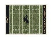 Milliken MI-4000054674 Wyoming Cowboys 3 ft. 10 in. x 5 ft. 4 in. Premium Field Rug