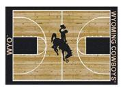 Milliken MI-4000018441 Wyoming Cowboys 5 ft. 4 in. x 7 ft. 8 in. Premium Court Rug