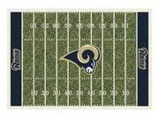 Milliken MI-4000019845 Saint Louis Rams 5 ft. 4 in. x 7 ft. 8 in. Premium Field Rug