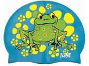 1Line Sports FRGRO Frog Power Silicone Swim Cap in Royal