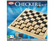 POOF-Slinky 37255BL Ideal Checker It Out Game with Wooden Checker Board and Pieces