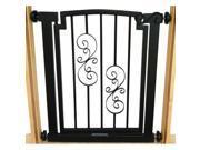 Petsstop DG15-S-M Noblesse Doorway Dog Gate - Mocha