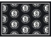 Milliken MI-4000110348 Brooklyn Nets 5 ft. 4 in. x 7 ft. 8 in. Premium Pattern Rug