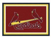 Milliken MI-4000019525 Saint Louis Cardinals 5 ft. 4 in. x 7 ft. 8 in. Premium Spirit Rug