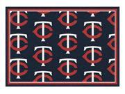 Milliken MI-4000019564 Minnesota Twins 5 ft. 4 in. x 7 ft. 8 in. Premium Pattern Rug