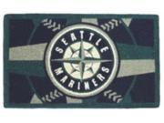 Team Sports America EV-0007L704 Seattle Mariners 18 x 30 Bleached Welcome Mat