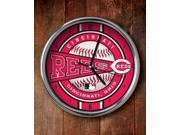Memory Company MC-MLB-CRE-823 Cincinnati Reds Chrome Clock
