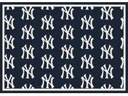 Milliken MI-4000019625 New York Yankees 7 ft. 8 in. x 10 ft. 9 in. Premium Pattern Rug