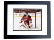 Martin Brodeur Autographed New Jersey Devils 8X10 Photo Black Custom Frame - 3X Stanley Cup Champion 9SIV06W2J73449