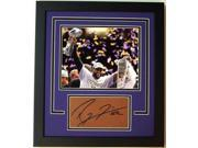 Ray Lewis Autographed Football Cut Custom Frame With Baltimore Ravens Super Bowl 47 Xlvii 8X10 Photo 9SIV06W2JA5214