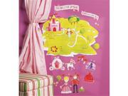 Wallies Wallcoverings 13529 Peel & Stick Wall Play Princess Land 9SIV06W2JM5066