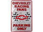 P - 002 Chevy Racing Fans Parking Sign - SP80008