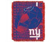 Northwest 1NFL-01903-0081-RET Double Play Ny Giants NFL Jacquard Throw