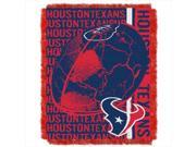 Northwest 1NFL-01903-0119-RET Double Play Texans NFL Jacquard Throw