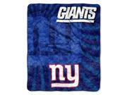 Northwest 1NFL-06501-0081-RET Strobe-Ny Giants NFL Sherpa Throw 50x60