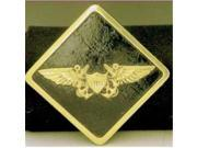 Mayer Mill Brass HTC-NC Navy Crew Wings Trailer Hitch Cover