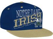 Adidas CG-NR85Z-MTC-ND Notre Dame Fighting Irish Adidas Slanted Wordmark Snap Back Hat