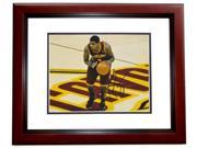 Real Deal Memorabilia KIrving8x10-3MF Kyrie Irving Autographed Cleveland Cavaliers 8x10 Photo MAHOGANY CUSTOM FRAME - 2012 NBA Rookie of the Year