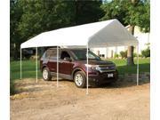 ShelterLogic 23522 10 ft. -20 ft.  Canopy, 1-.38 in.  8-Leg Frame, White Cover